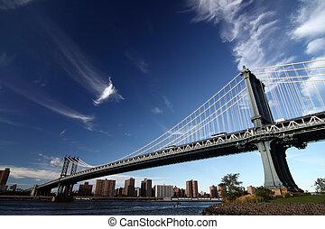 image, york, nouveau, pont