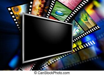 images, écran film, pellicule