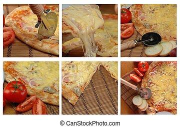images, différent, pizza