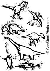 images, dinosaure, tache