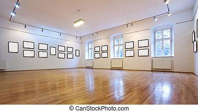 images, galerie art, vide