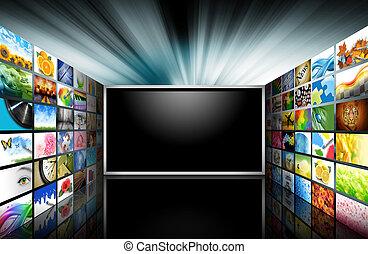 images, télévision écran plat