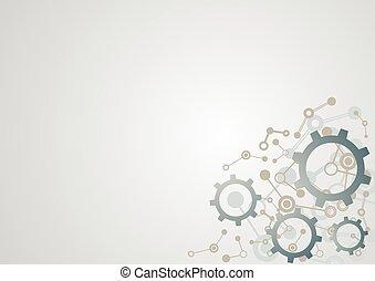 imaginatif, industriel, technologie, fond