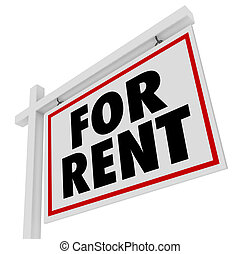 immobiliers, maison, signe, loyer, maison, loyer