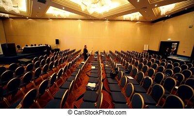 impôt, expo-2010, rangées, chaise, salle, international, congrès
