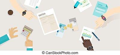 impôts, amortization, avant, intérêt, ebitda, dépréciation, revenus
