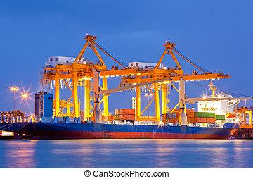 importation, chantier naval, exportation, logistique