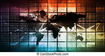 importation, global, exportation