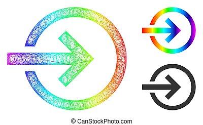 importation, icône, maille, gradient, spectre, filet