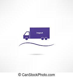 importation, icône