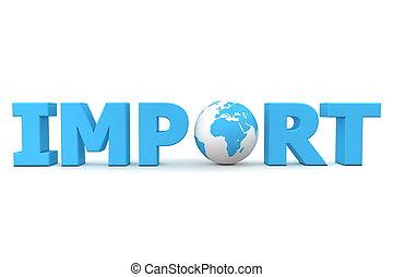 importation, mondiale