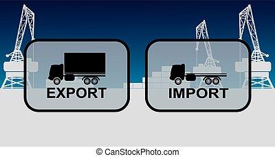 importation, signes, exportation