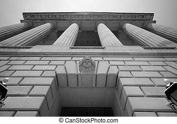 imposer, bâtiment, washington dc, gouvernement
