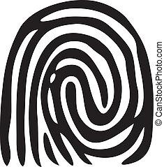 impression, fingerprint), (vector, doigt
