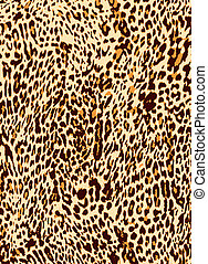 impression, léopard, animal, fond