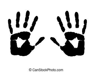 impression, mains