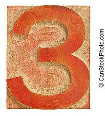 impression, nombre, bloc, trois