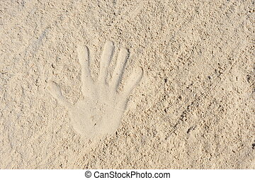 impression, sand., main