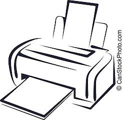 imprimante, illustration