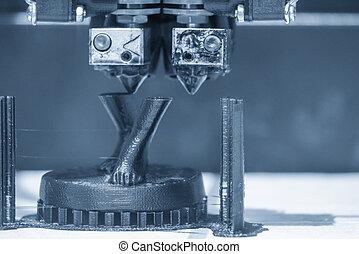 imprimer, humain, modèle, parts., 3d, machine, imprimante