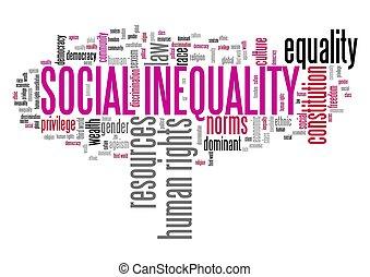 inégalité, social