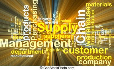incandescent, chaîne, wordcloud, gestion, fourniture