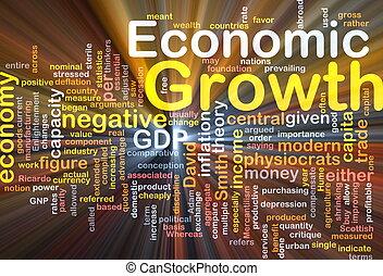 incandescent, concept, économique, fond, croissance