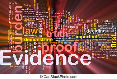 incandescent, concept, évidence, fond, preuve