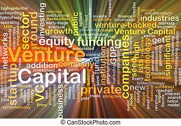 incandescent, concept, entreprise, fond, capital