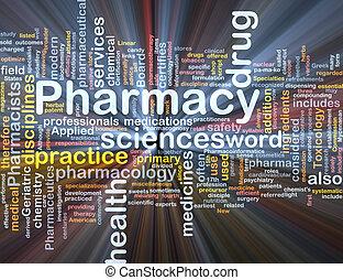 incandescent, concept, fond, pharmacie