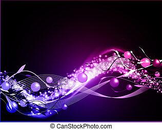 incandescent, fond, ondulé, néon