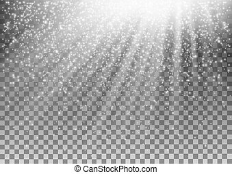 incandescent, vecteur, arrière-plan., effet, transparent, lumière