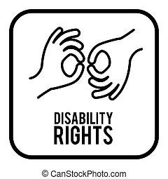 incapacité, droits, conception