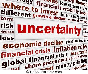 incertitude financière, conception
