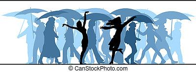 inconnu, rain., gens