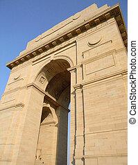 inde, delhi, nouveau, portail