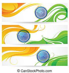 inde, drapeau tricolore, bannière