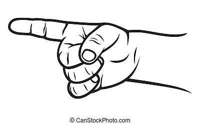 indicateur, doigt, gosse