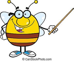 indicateur, pudgy, tenue, abeille