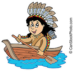 indien bois, bateau
