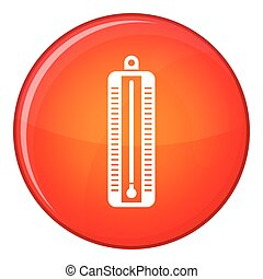 indique, thermomètre, bas, température, icône