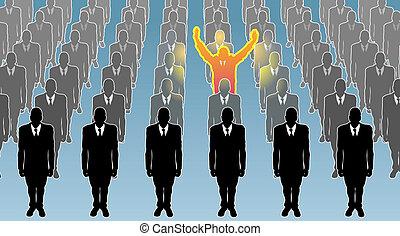 individu, illustration, concept, business