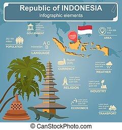 indonésie, infographics