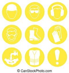 industrie, construction, icônes