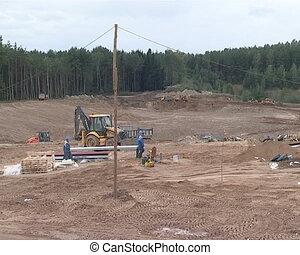 industrie construction, travaux, site
