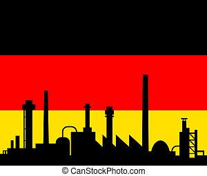 industrie, drapeau allemagne