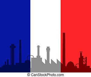 industrie, drapeau, france