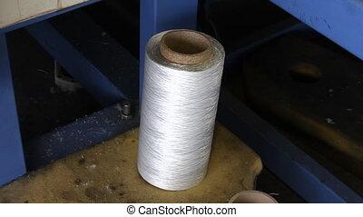 industrie, -, fil, textile, s, bobines