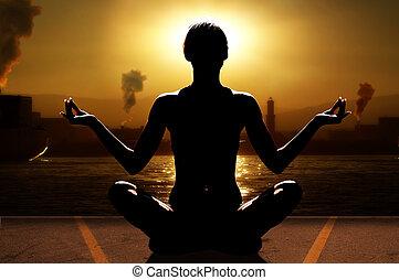 industrie, yoga