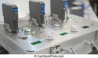 industriel, appareil, objet, -, équipement, technologie pointe, électronique